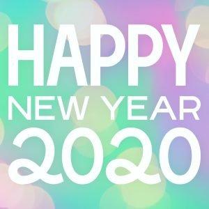 Frohes neues Jahr und happy new yer 2020